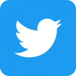 Twitter social icons - rounded square - blue